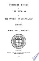 Printed Books In The Library Of The Society Of Antiquaries Of London PDF