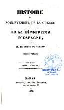 Histoire du soulèvement, de la guerre et de la révolution d'Espagne