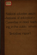 Tentative Report of the Committee on a System of Teaching Morals in the Public Schools
