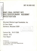 MMF   Final Report 1971  Multidisciplinary Accident Investigation