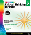 Spectrum Critical Thinking for Math, Grade 2