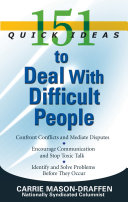 151 Quick Ideas to Deal With Difficult People [Pdf/ePub] eBook