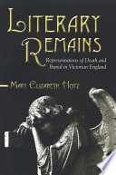 Literary Remains Pdf/ePub eBook