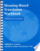 Meaning-based Translation Workbook