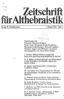 Zeitschrift Für Althebraistik