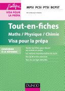 Tout-en-fiches Maths-Physique-Chimie Visa pour la prépa
