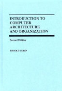 Introduction To Computer Architecture And Organization Book PDF
