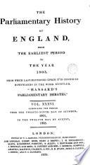 Cobbett S Parliamentary History Of England 1801 1803 Book