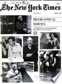 The New York Times Biographical Service  , Volume 27