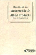 Pdf Handbook on Automobile & Allied Products (2nd Revised Edition)