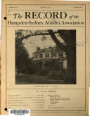 The Record of Hampden-Sydney College