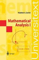 Mathematical Analysis I