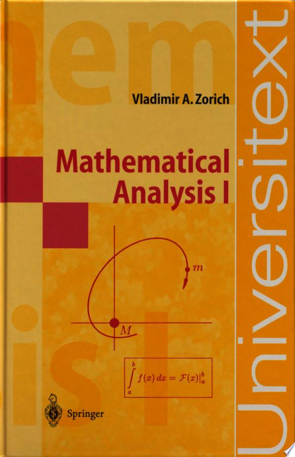 Mathematical Analysis I