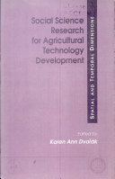 Social Science Research for Agricultural Technology Development