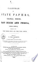 Calendar of State Papers  Colonial Series     Book PDF