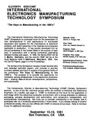 Eleventh Ieee Chmt International Electronics Manufacturing Technology Symposium Book PDF