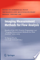 Imaging Measurement Methods for Flow Analysis