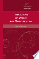 Interactions Of Degree And Quantification