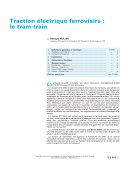Pdf Traction Electrique Ferroviaire Le Tram Train