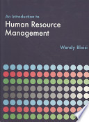 An Introduction to Human Resource Management