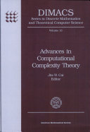 Advances in Computational Complexity Theory