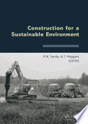 Construction For A Sustainable Environment Book PDF