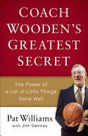 Coach Wooden's Greatest Secret Pdf/ePub eBook