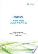 Hydrogen  A renewable energy perspective
