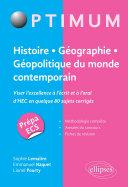 Pdf Histoire - Géographie - Géopolitique du monde contemporain. Viser l'excellence à l'écrit et à l'oral d'HEC en quelque 80 sujets corrigés Telecharger