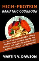 High Protein Bariatric Cookbook Book