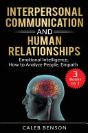 Interpersonal Communication and Human Relationships Book PDF