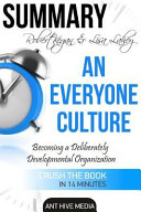 Robert Kegan and Lisa Lahey's an Everyone Culture