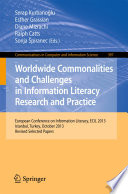Worldwide Commonalities And Challenges In Information Literacy Research And Practice Book PDF