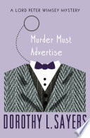 Murder Must Advertise Dorothy L. Sayers Cover