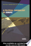 A Political Chronology of Europe