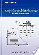 Investigation Of Superconducting Order Parameters In Heavy Fermion And Low Dimensional Metallic Systems Under Pressure Book PDF