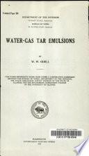 Water-gas Tar Emulsions