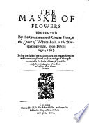 The Maske of flowers : 1614