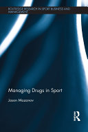 Managing Drugs in Sport