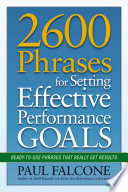 2600 Phrases for Setting Effective Performance Goals Book