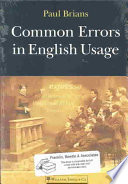 """""""Common Errors in English Usage"""" by Paul Brians"""
