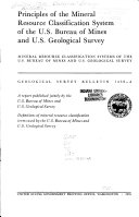 Principles of the Mineral Resource Classification System of the U S  Bureau of Mines and U S  Geological Survey