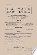 Harvard Law Review Book