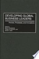 Developing Global Business Leaders Book PDF