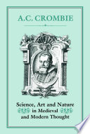 Science Art And Nature In Medieval And Modern Thought