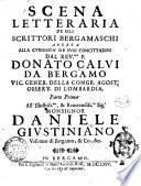 Scena letteraria de gli scrittori Bergamaschi