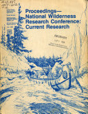 Proceedings  National Wilderness Research Conference  Current Research
