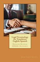 Legal Terminology for Translators English Spanish