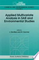 Applied Multivariate Analysis In Sar And Environmental Studies Book PDF