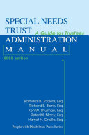 Special Needs Trust Administration Manual